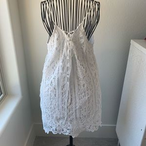 White Crotchet Sun Dress